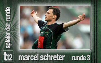 Marcel Schreter Doppelpackschütze und wieder Gewinner der t12 Wahl