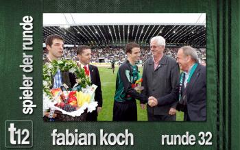 Fabian Koch bei der Ehrung durch die Bundesliga