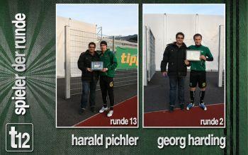 Harald Pichler und Georg Harding als Spieler der Runde