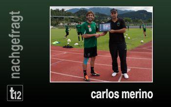 Carlos Merino bei der Übergabe
