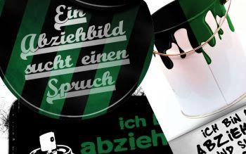 Diese drei Abziehbilder warten auf schwarz-grüne Sprüche