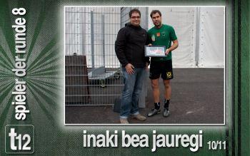 Spieler der Runde 8: Inaki Bea