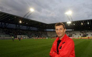 Innsbruck Trainer Walter Kogler hatte nach dem 7:0 Erfolg gegen Dornbirn gut lachen