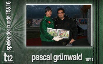 Pascal Grünwald freute sich über die 4. Auszeichnung in dieser Saison