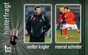 Walter Kogler und Marcel Schreter nach dem Spiel